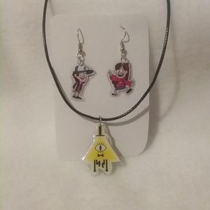 Laminate Cartoon Gravity Falls Jewelry Set